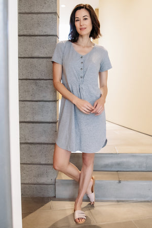 Knotted Button Front Dress - Mododoc