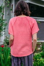 Raglan Sleeve Tee w/ Raw Edges - Mododoc