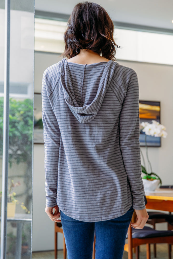 Hooded Raglan Sleeve Tunic - Mododoc