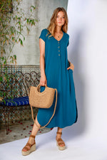 S/S Henley Maxi Dress