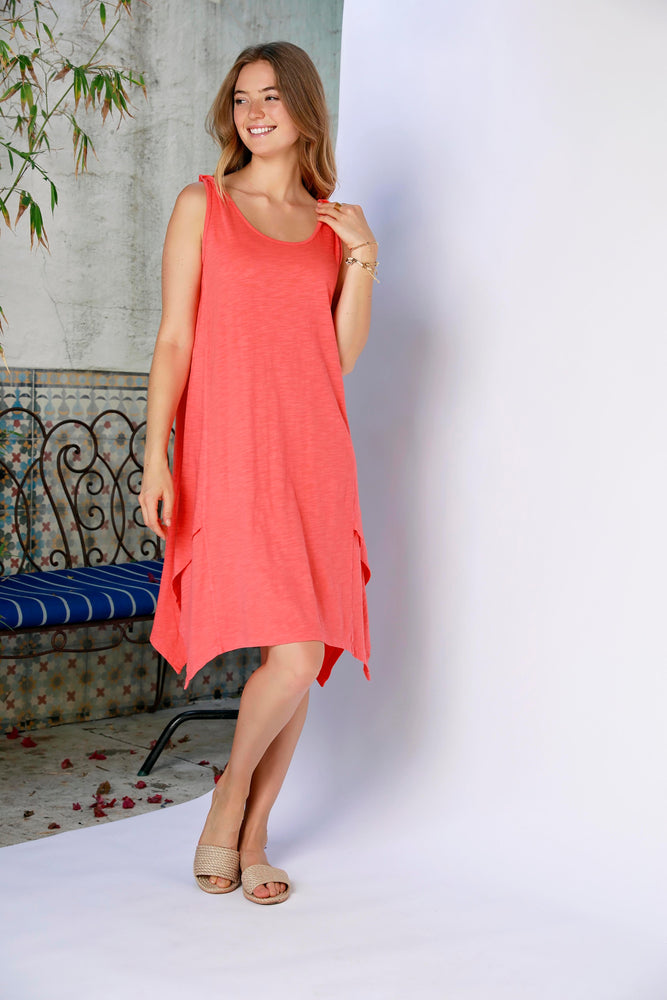 Twist Strap Dress W/ Crossover Hems