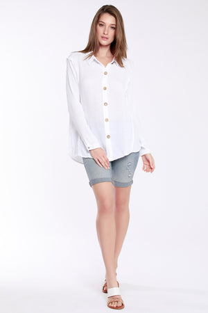 Button Front Boxy Shirt