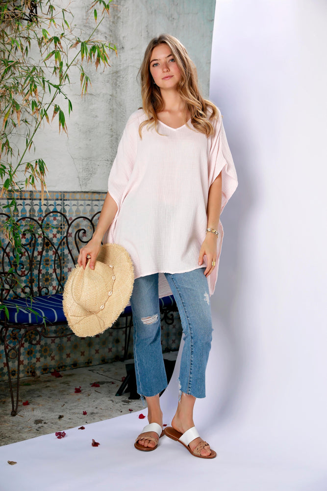 V-Neck Caftan Top