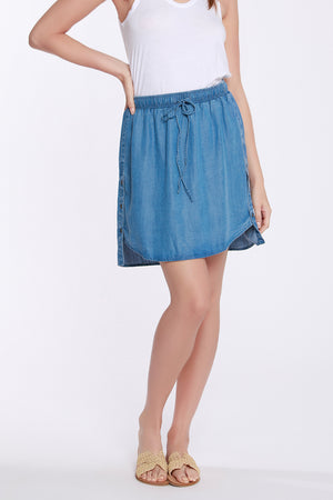 Short Skirt W/ Side Button Detail