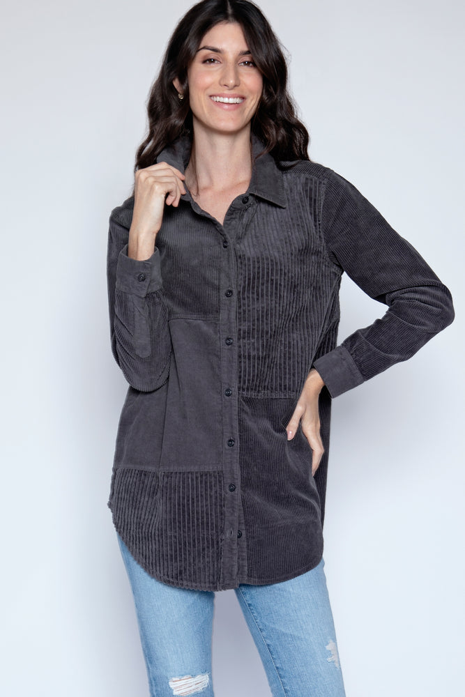 Mixed Corduroy Shirt - Mododoc