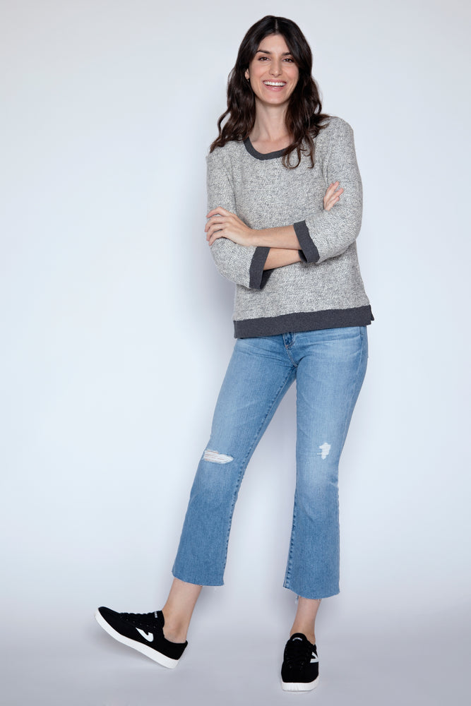 3/4 SLV Boxy Sweater
