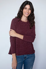 Long Sleeve Crossover Hem Top