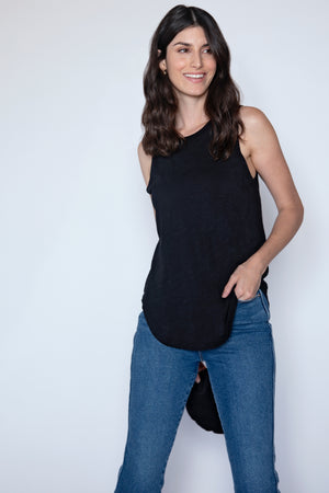 Crew Neck Easy Fit Layering Tank - Mododoc