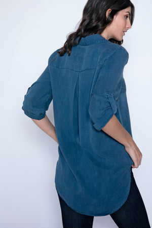 Roll Tab Patch Pocket Tunic - Mododoc