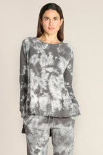 Tie Dye Long Raglan Sleeves Tunic