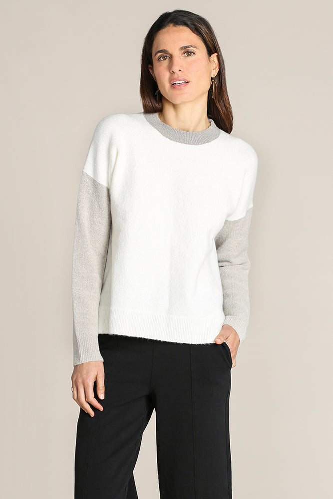 Colorblock Boxy Crew Neck