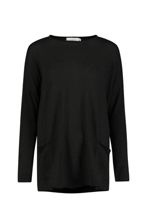 Crew Neck Patch Pocket Tunic