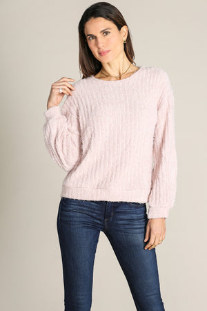 Crew Neck Gathered Seelve Top