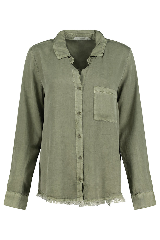 Button Front Shirt W/ Back Seaming