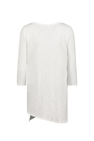 3/4 Sleeves Slanted Hem Tunic