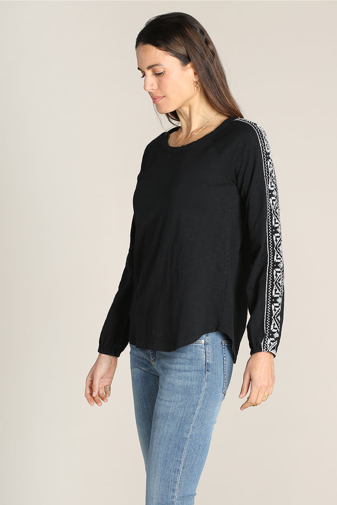 Raglan Sleeves Embroidered Tee