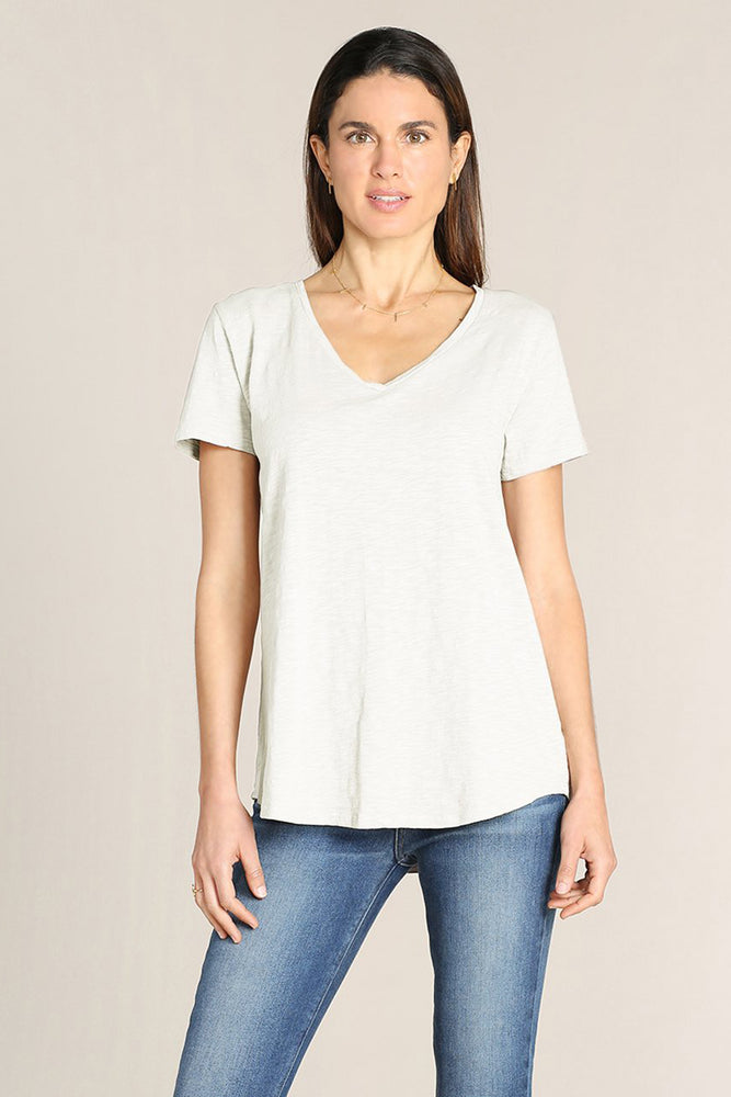 Short Sleeves Classic V-neck Tee