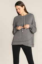 Slouchy Drawstring Neck Tunic