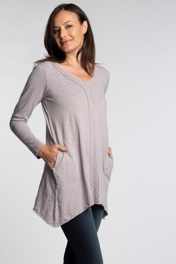 Long Sleeve Tunic w/ Pockets - Mododoc