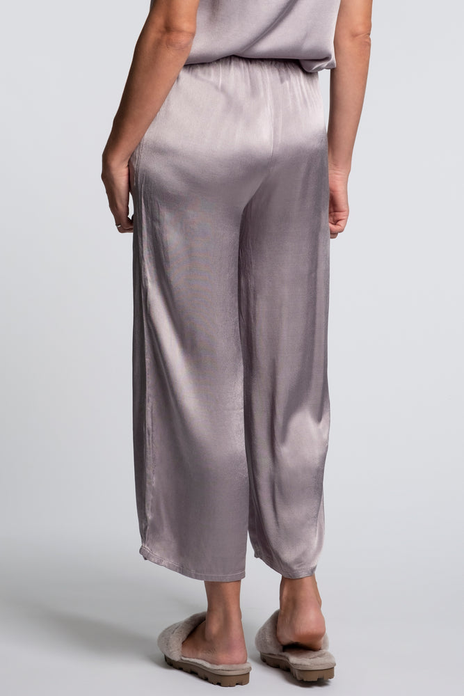 Satin Cropped Wide Leg Lounge Pant - Mododoc