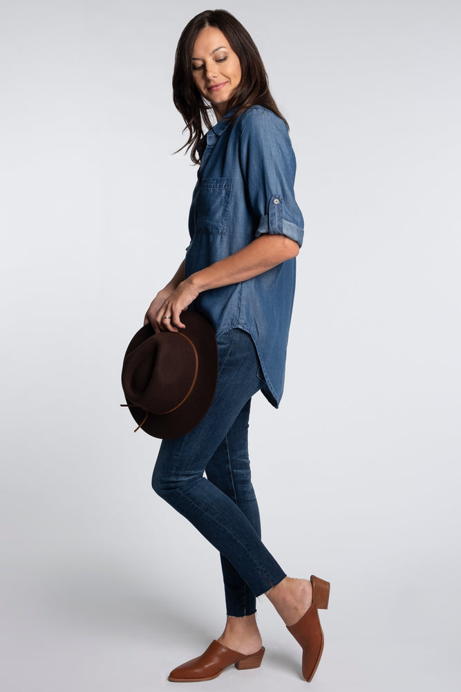 Denim Patch Pocket Tunic
