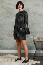 Raglan Sleeve Funnel Neck Dress
