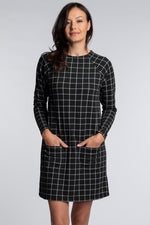Raglan Sleeve Funnel Neck Dress - Mododoc
