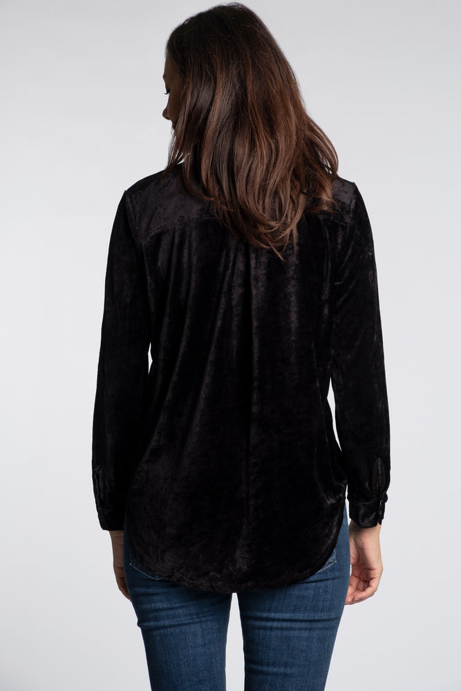 Collared Neck Long Sleeve Shirt - Mododoc