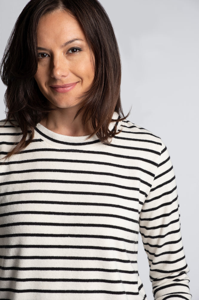 Boxy Pullover Stripe Sweater