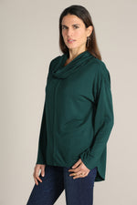 Cowl Neck Tunic W/ Raw Edges