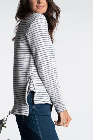 Step Hem Boxy Crew Neck Top - Mododoc
