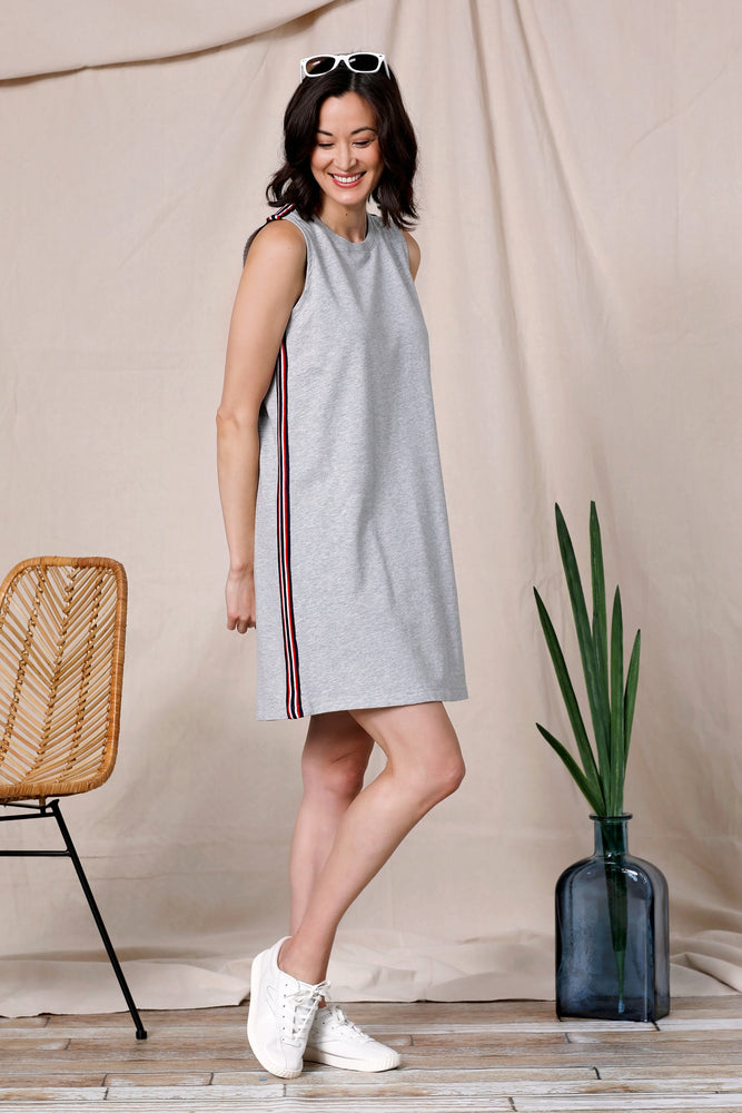 Tank Dress w/ Stripe Trim - Mododoc