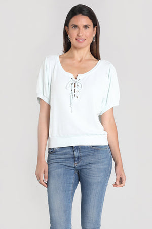 Lace-up Henley