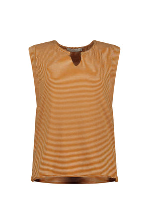 Split Neck Muscle Tee