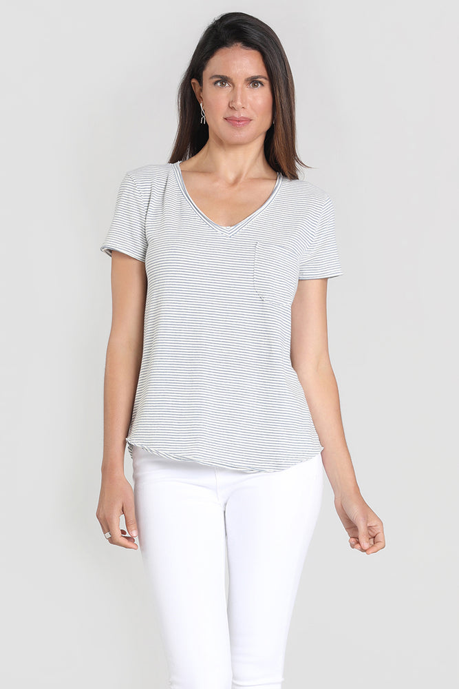 Short Sleeve V-neck Pocket Tee
