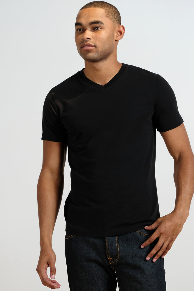 """Del Mar"" Short Sleeve V-Neck Tee - Mododoc"
