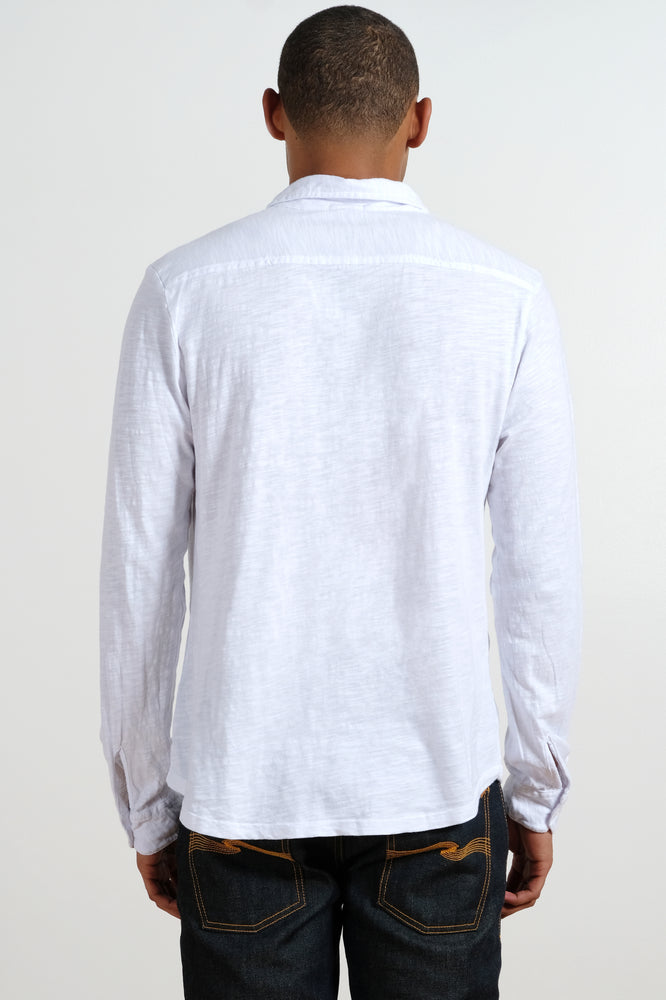 """Point Dume"" Long Sleeve Button Front Shirt - Mododoc"