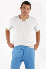 """Topanga"" Short Sleeve Notch V-neck"