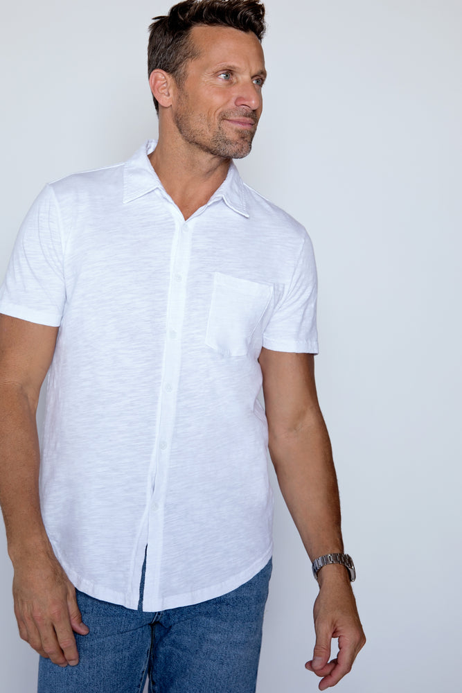 """Montara""Short Sleeve Button Front Shirt"