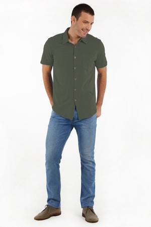 """Montara"" Short Sleeve Button Front Shirt"