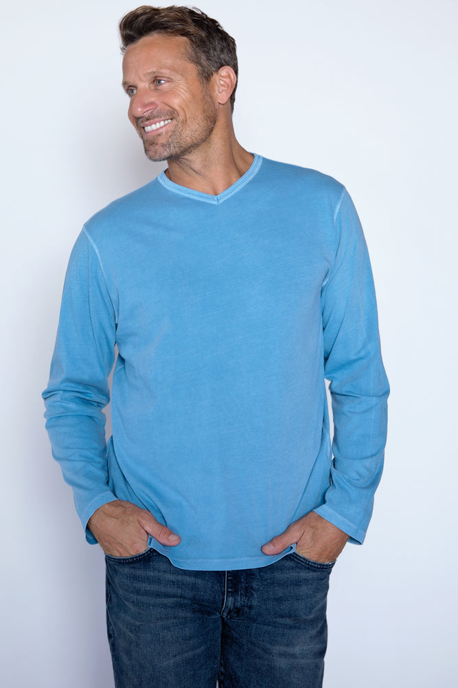 """Long Beach"" L/S V-Neck - Mododoc"