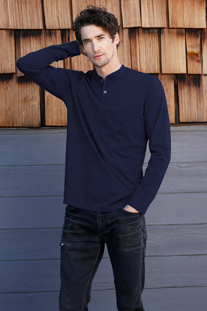 Long Sleeve 3 Button Henley