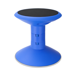 Storex Adjustable Wobble Chair, Non-Slip Base, 12-18 Inch Height, Blue