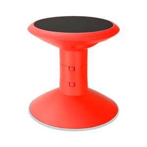 Storex Adjustable Wobble Chair, Non-Slip Base, 12-18 Inch Height, Red