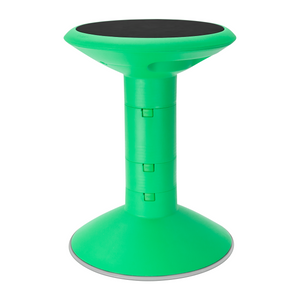 Storex Adjustable Wiggle Stool, Non-Slip Base, 12-18 Inch Height, Green