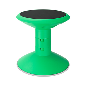 Storex Adjustable Wobble Chair, Non-Slip Base, 12-18 Inch Height, Green