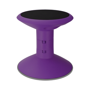 Storex Adjustable Wiggle Stool, Non-Slip Base, 12-18 Inch Height, Violet