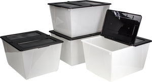 16 Gallon/60 L, Storage Tote with Lid (4 units/pack)