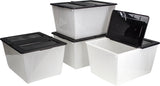16 Gallon (60L) Storage Tote with Lid - Storex