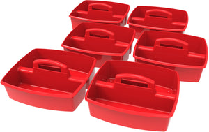Large Caddy, Red (6 units/ pack) - Storex